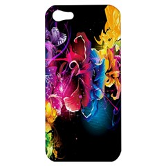 Abstract Patterns Lines Colors Flowers Floral Butterfly Apple Iphone 5 Hardshell Case by Mariart