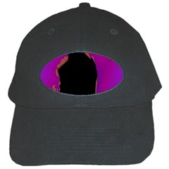 Buffalo Fractal Black Purple Space Black Cap by Mariart