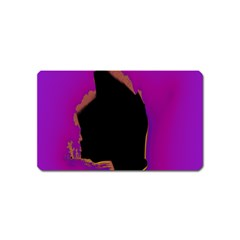 Buffalo Fractal Black Purple Space Magnet (name Card) by Mariart