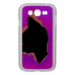 Buffalo Fractal Black Purple Space Samsung Galaxy Grand Duos I9082 Case (white) by Mariart