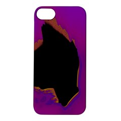 Buffalo Fractal Black Purple Space Apple Iphone 5s/ Se Hardshell Case by Mariart