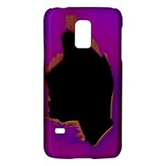 Buffalo Fractal Black Purple Space Galaxy S5 Mini by Mariart