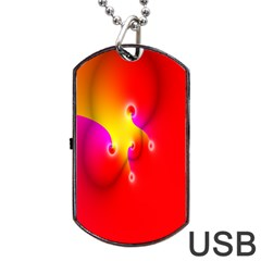 Complex Orange Red Pink Hole Yellow Dog Tag Usb Flash (one Side) by Mariart