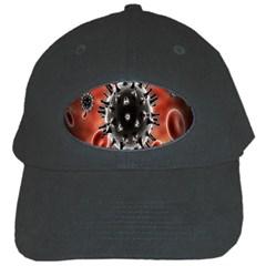Cancel Cells Broken Bacteria Virus Bold Black Cap by Mariart