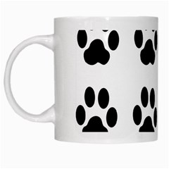 Claw Black Foot Chat Paw Animals White Mugs by Mariart