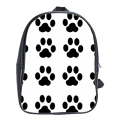 Claw Black Foot Chat Paw Animals School Bags(large)  by Mariart
