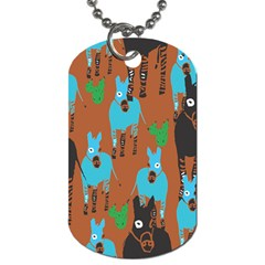 Zebra Horse Animals Dog Tag (two Sides) by Mariart