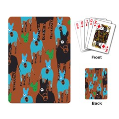 Zebra Horse Animals Playing Card by Mariart