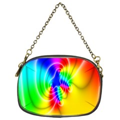 Complex Orange Red Pink Hole Yellow Green Blue Chain Purses (one Side)  by Mariart