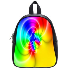 Complex Orange Red Pink Hole Yellow Green Blue School Bags (small)  by Mariart