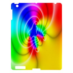 Complex Orange Red Pink Hole Yellow Green Blue Apple Ipad 3/4 Hardshell Case by Mariart
