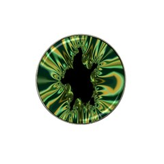 Burning Ship Fractal Silver Green Hole Black Hat Clip Ball Marker (10 Pack) by Mariart