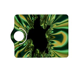 Burning Ship Fractal Silver Green Hole Black Kindle Fire Hd (2013) Flip 360 Case by Mariart