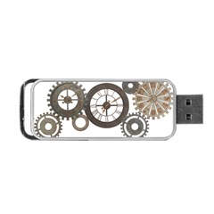 Hour Time Iron Portable Usb Flash (one Side) by Mariart