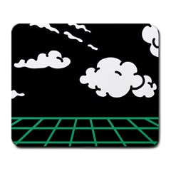 Illustration Cloud Line White Green Black Spot Polka Large Mousepads by Mariart