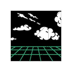 Illustration Cloud Line White Green Black Spot Polka Acrylic Tangram Puzzle (4  X 4 ) by Mariart