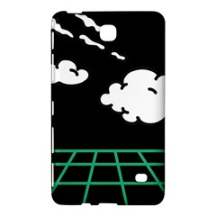 Illustration Cloud Line White Green Black Spot Polka Samsung Galaxy Tab 4 (8 ) Hardshell Case  by Mariart