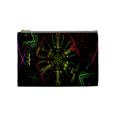 Inner Peace Star Space Rainbow Cosmetic Bag (medium)  by Mariart