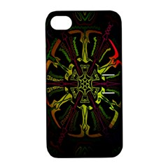 Inner Peace Star Space Rainbow Apple Iphone 4/4s Hardshell Case With Stand by Mariart