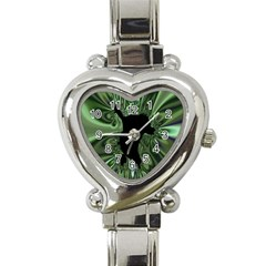 Hole Space Silver Black Heart Italian Charm Watch by Mariart