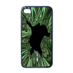 Hole Space Silver Black Apple Iphone 4 Case (black) by Mariart