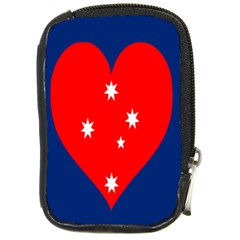 Love Heart Star Circle Polka Moon Red Blue White Compact Camera Cases by Mariart