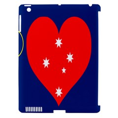 Love Heart Star Circle Polka Moon Red Blue White Apple Ipad 3/4 Hardshell Case (compatible With Smart Cover) by Mariart