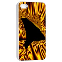 Hole Gold Black Space Apple Iphone 4/4s Seamless Case (white) by Mariart