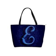 Marquis Love Dope Lettering Blue Red Alphabet E Shoulder Handbags by Mariart