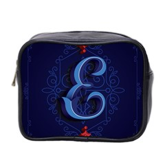 Marquis Love Dope Lettering Blue Red Alphabet E Mini Toiletries Bag 2 Side by Mariart