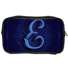 Marquis Love Dope Lettering Blue Red Alphabet E Toiletries Bags by Mariart