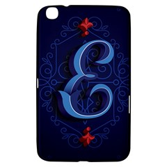 Marquis Love Dope Lettering Blue Red Alphabet E Samsung Galaxy Tab 3 (8 ) T3100 Hardshell Case  by Mariart