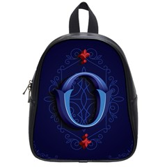 Marquis Love Dope Lettering Blue Red Alphabet O School Bags (small)  by Mariart