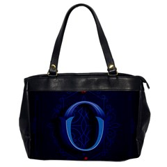 Marquis Love Dope Lettering Blue Red Alphabet O Office Handbags by Mariart