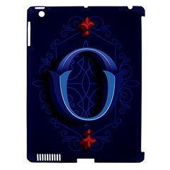 Marquis Love Dope Lettering Blue Red Alphabet O Apple Ipad 3/4 Hardshell Case (compatible With Smart Cover) by Mariart
