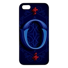 Marquis Love Dope Lettering Blue Red Alphabet O Apple Iphone 5 Premium Hardshell Case by Mariart