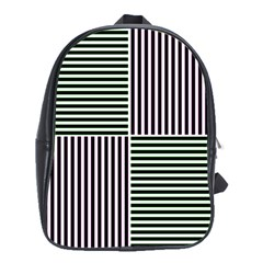 Mccollough Test Image Colour Effec Line School Bags (xl)  by Mariart