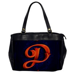 Marquis Love Dope Lettering Blue Red Orange Alphabet P Office Handbags by Mariart