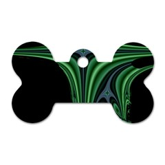 Line Light Star Green Black Space Dog Tag Bone (two Sides) by Mariart