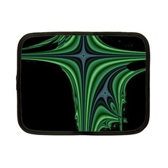 Line Light Star Green Black Space Netbook Case (small)  by Mariart