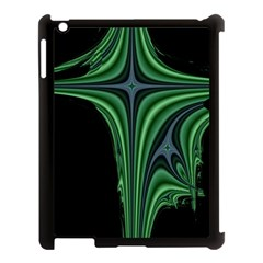 Line Light Star Green Black Space Apple Ipad 3/4 Case (black) by Mariart