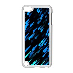 Meteor Rain Water Blue Sky Black Green Apple Ipod Touch 5 Case (white) by Mariart