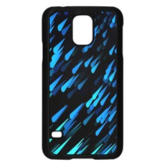 Meteor Rain Water Blue Sky Black Green Samsung Galaxy S5 Case (black) by Mariart