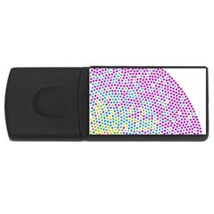 Japanese Name Circle Purple Yellow Green Red Blue Color Rainbow Usb Flash Drive Rectangular (4 Gb) by Mariart