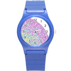 Japanese Name Circle Purple Yellow Green Red Blue Color Rainbow Round Plastic Sport Watch (s) by Mariart