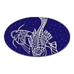 Pisces Zodiac Star Oval Magnet by Mariart