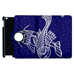 Pisces Zodiac Star Apple Ipad 3/4 Flip 360 Case by Mariart