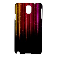 Rain Color Rainbow Line Light Green Red Blue Gold Samsung Galaxy Note 3 N9005 Hardshell Case by Mariart