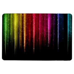 Rain Color Rainbow Line Light Green Red Blue Gold Ipad Air Flip by Mariart