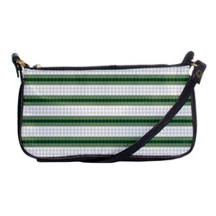 Plaid Line Green Line Horizontal Shoulder Clutch Bags by Mariart